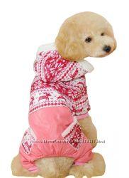 Теплый комбинезон для мини собаки