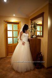 Счастливое свадебное платье шампань