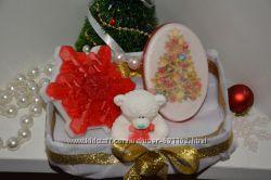Красивый подарок на Новый год  Набор мыла ручной работы