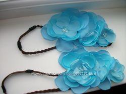Стильные повязочки ободки для мамы и дочки