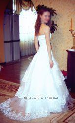 Свадебное платье ручной работы рост 168-170