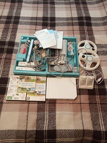 Игровая приставка Wii Nintendo на английском языке 16 дисков с играми