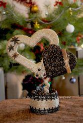 Топиарий из кофейных зерен. Кофейное дерево