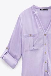 Трикотажная блуза Zara BASIC SHIRT размер М