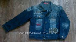 Джинсовый пиджак куртка для мальчика 8-10 лет