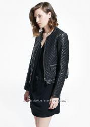 Кожаная куртка Mango М-L