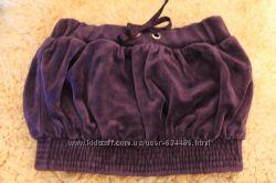 Юбки Benetton теплые велюровые, шерсть, с  подкладкой фиолетовая и черная