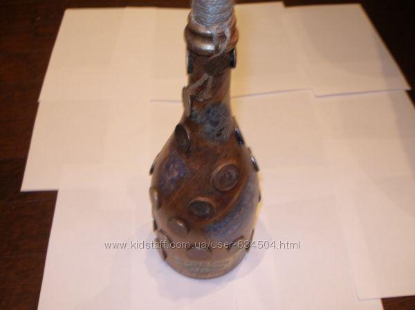 Бутылки,графины -Ручная работа От души в стиле декупаж (в наличии)