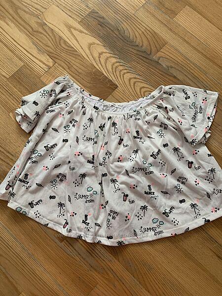 Блузка с открытыми плечами для девочки 11-13лет