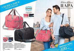 Дорожно-спортивные сумки черная, розовая