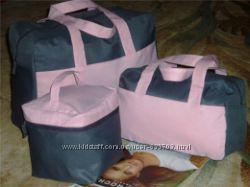 Серо-розовый набор сумок Ив Роше