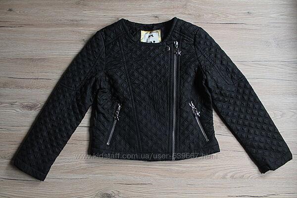 Куртка, косуха стеганная Debenhams для девочки 6-7 лет рост 116-122