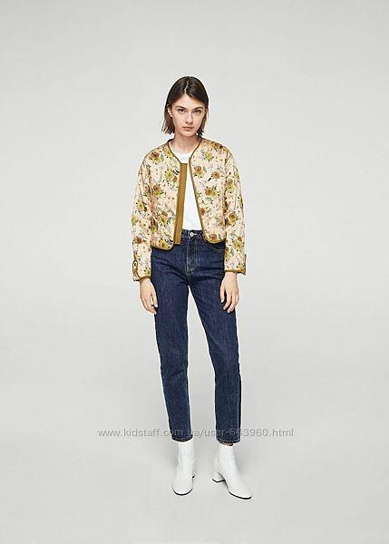 Куртка летняя Mango с цветочным принтом
