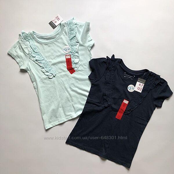 Primark футболочки набором на 6-7 лет
