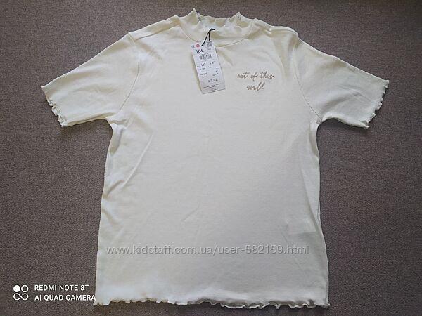 Новая школьная футболка Резервед, размер 164, рубчик.