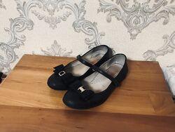 Школьные туфли на липучке minimen на девочку