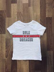 Белая хлопковая футболка primark на девочку