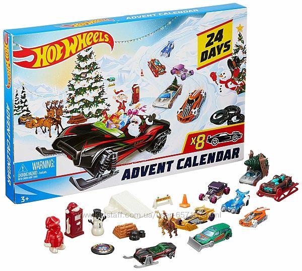 Hot Wheels Адвент календарь Хот Вилс Новогодний рождественский. Оригінал
