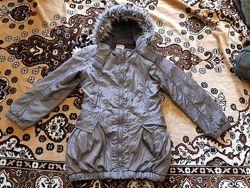 Удлиненная деми курточка George р122-128 в отличном состоянии