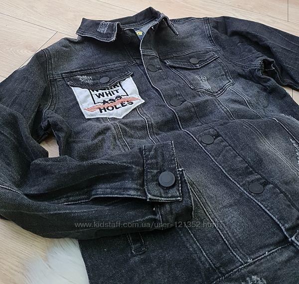 джинсовая куртка пиджак 134-140-146-152-158см