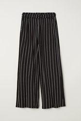 Кюлоты Широкие брюки H&M в полоску вискозный трикотаж