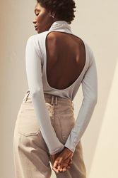 Водолазка H&M вырез на спине серая М