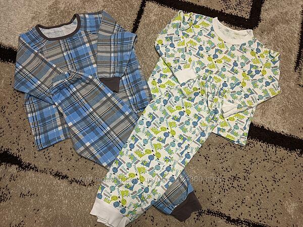 Две пижамы с начёсом для мальчика