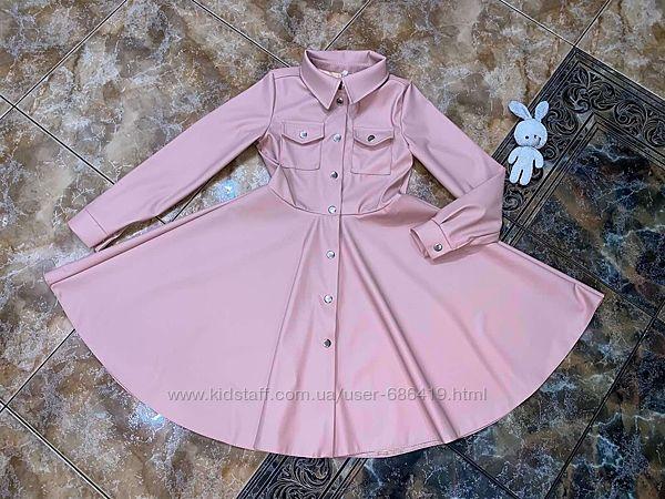 Стильное платье эко кожа