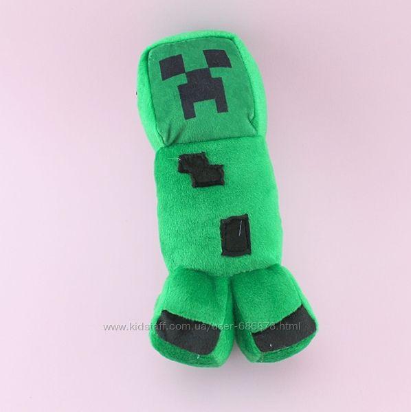 Мягкая игрушка зеленый Крипер Майнкрафт