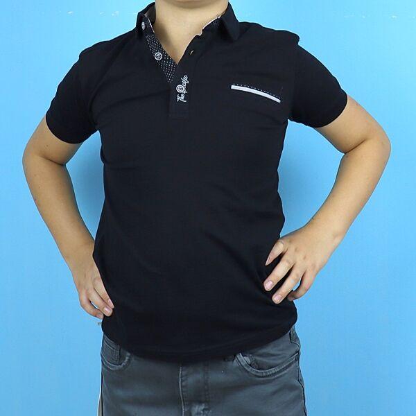 Черное поло для мальчика с карманом тм Blueland