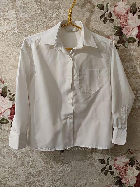 Рубашка шведка белая 6 лет рост 116-122
