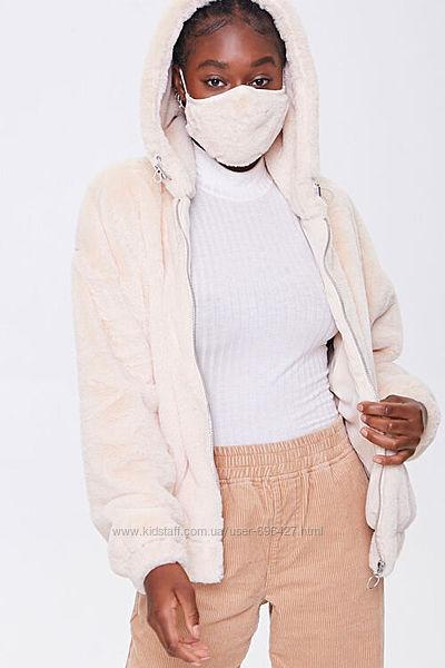 Forever 21 жакет-худи с маской, 2 цвета меховая куртка, искусственная шубка
