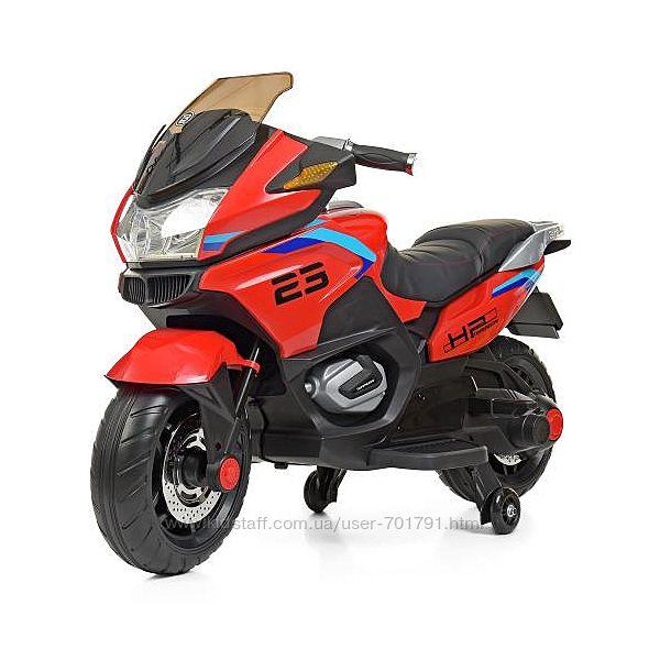 Детский мотоцикл Bambi 4272EL с кожаным сидением электромобиль