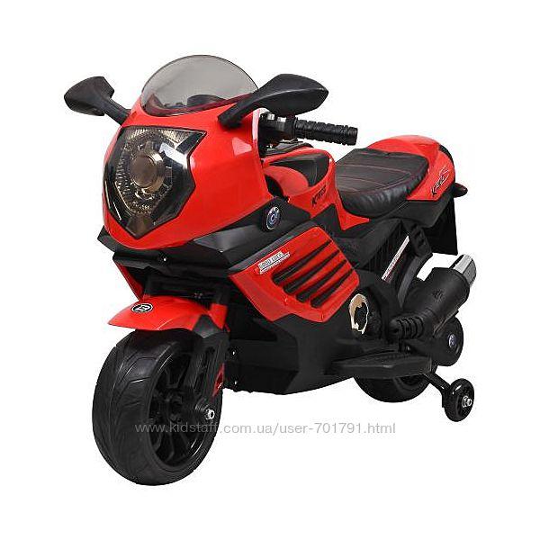 Мотоцикл 3578EL детский с дополнительными колесами Ева