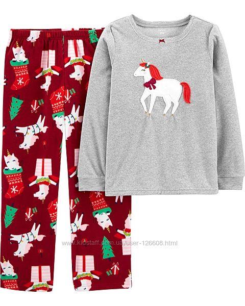 6л,7л,8л,12л,14л. Флисовая новогодня пижама Carters. В наличии