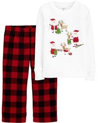 5т. Пижама Рождество Carters, хлопок/флис. В наличии