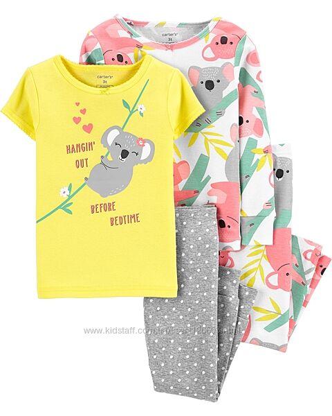 5т. Котоновые пижамы Carters Коала, пижама картерс. В наличии