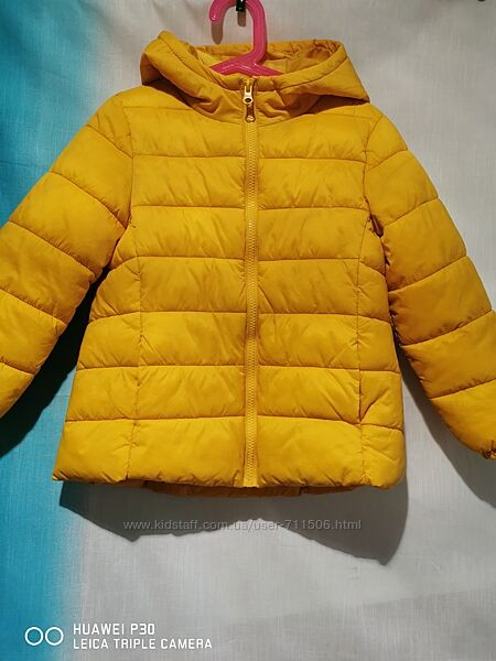Куртка Маталан яркого желто - лимонного цвета на 5-6 лет
