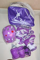 Ролики набор раздвижные Маратон Комплект сумка, шлем, защита