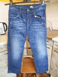 джинсы синие Relaxed Denim 128 см 7-8 лет 100котон