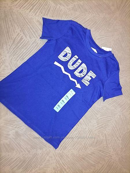 Новая футболка с принтом хлопок 116