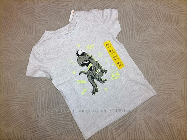 Новая футболка с принтом хлопок 92
