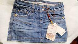 Классная джинсовая мини юбка. Сток