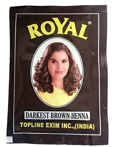 Хна Royal Darkest brown из Индии натуральная краска для волос