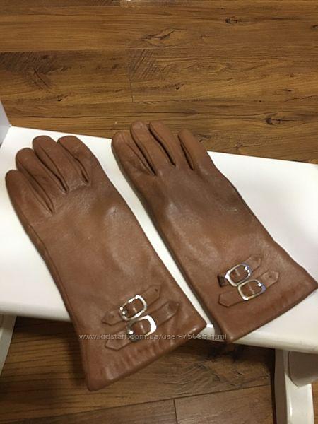 Перчатки из натуральной кожи 6,5 размер цвет рыжый