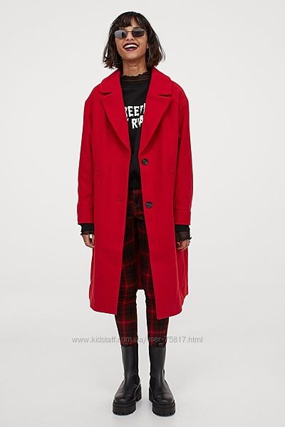 пальто оверсайз H&M, размер С-M
