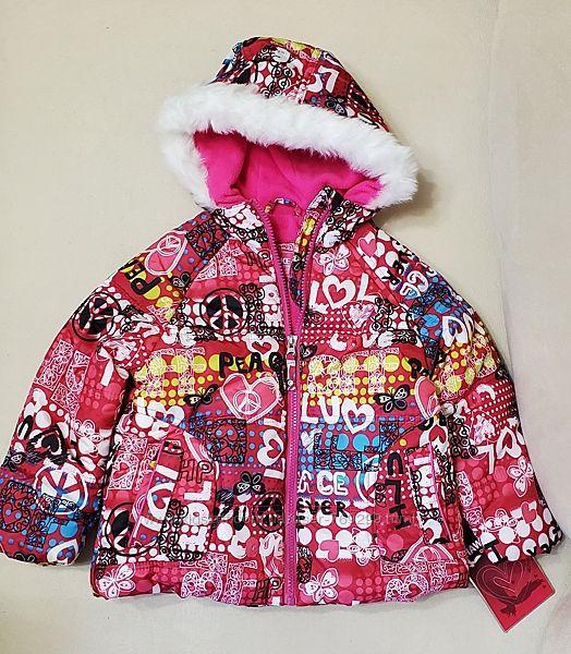 Новая Куртка для девочки евро зима Hawke размер 4 года