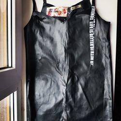 Стильный кожаный NEW сарафан Турция S-M