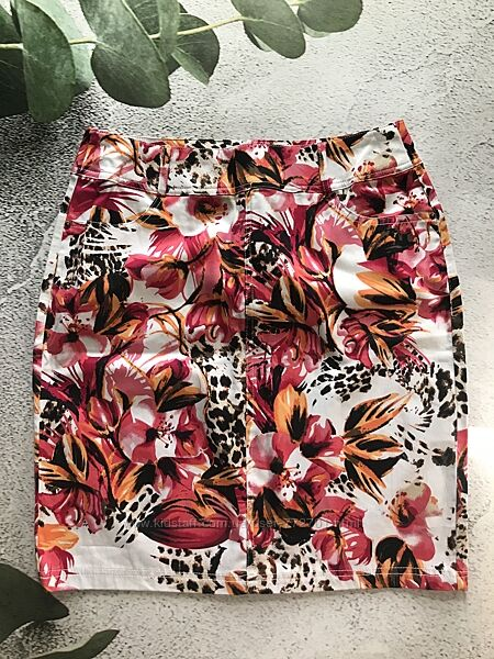 Яркая, летняя миди юбка, швейцарского бренда Charles Vоgele. 38, 40 евро