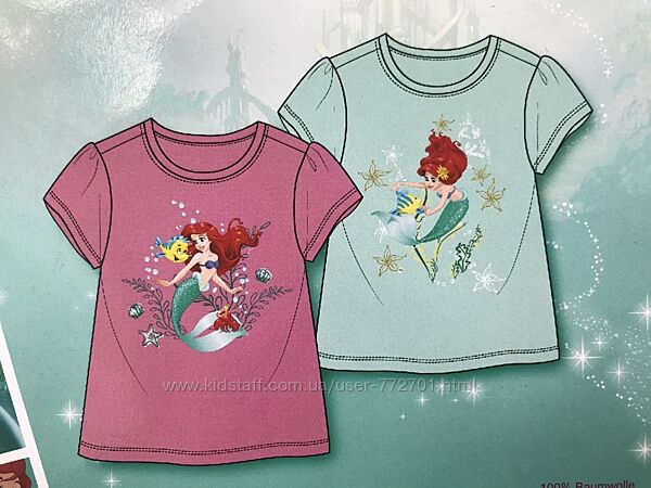 2 шт. Футболка для девочки Disney Princess. 98/104